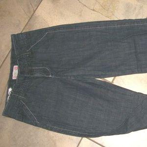 Roxy Dark Wash Cotton Denim Jeans Pants girls 14